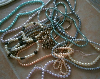 15 New Strands Glass Pearl Beads, All Colors 6mm and 8mm, Clearance Sale Willow Glass