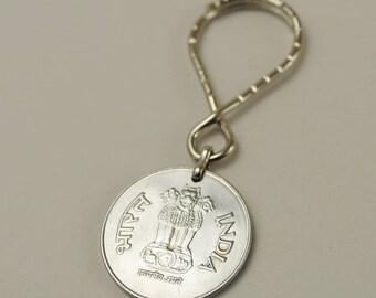 India 1999 Coin Keyring