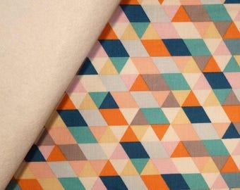 Ava Rose fabric felt  :  Multi Triangles on Natural