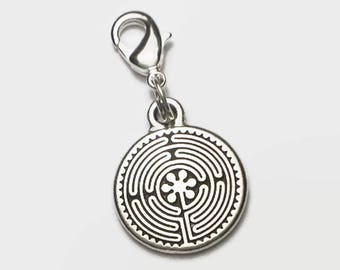 Chartres Labyrinth Clip-On Charm in Gift Box