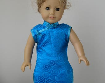 18-Inch Girl Doll Holiday Chinese Dress Fit like American Girl doll