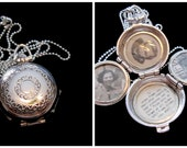 Vintage Coro Silver 4 Picture Family Locket