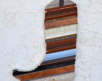 Cowboy Boot Wall Hanging Recycled Barn Wood