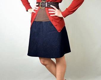 Custom Size Skirt - Linen Blend, Low Waist, Bias Cut, A-line, Comfy