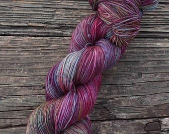RTS - OOAK - 75/25 SW Merino, Nylon - Sock Yarn - Fingering Yarn - Speckled Yarn - Lagniappe Sock