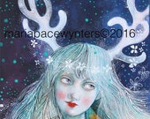 Midnight Dreamer-ACEO  Open edition reproduction by Maria Pace-Wynters
