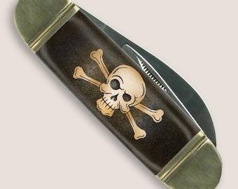 Skull and Bones - Mack the Knife - Skull and Bones Pocket Knife  by Trixie & Milo - Gift Boxed