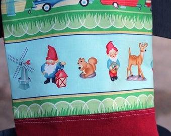 Toy bag, Vintage Camper, bible, Beach, pool, library bag, diaper bag, Dance bag, preschool, Book bag, Toddler, kid tote bag, Garden gnome