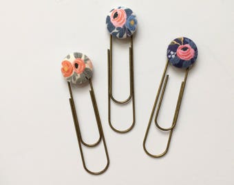 Bookmarks/Planner Clips// Rifle Paper Co. Rosa Trio
