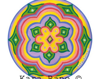 Cosmic Circle, Daisied, Flower design, Suncatcher, Groovy Folk, Spiritual, Wanderlust, Van life, Daisy, Protection, Psychedelic, EcoFriendly
