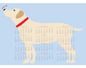 2018 Yellow Lab Dog Calendar wall calendar poster 13 x 19 inches