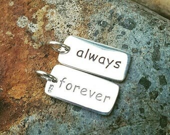 ON SALE TODAY Always and Forever Charm - Forever and Always Necklace - Sterling Silver