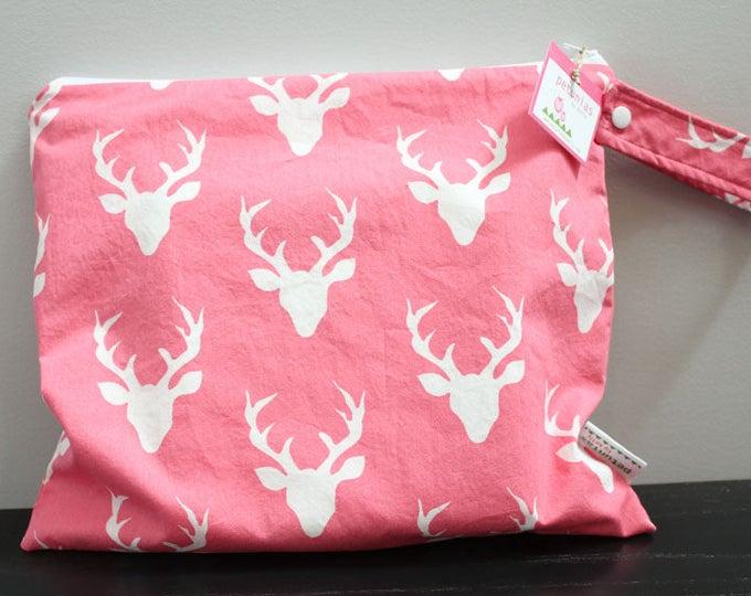 Wet Bag wetbag Diaper Bag ICKY Bag wet proof pink deer antlers gym bag swim cloth diaper accessories zipper gift newborn baby kids beach bag