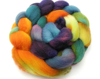 Flower Shop Inferno Hand Dye Spinning Fiber - Roving Dyed to Order