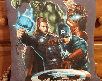 "Marvel Avengers 16"" by 16"" Decorative Pillow Captain America, Thor, Ironman, Hulk"