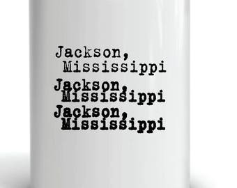 Jackson, Mississippi Coffee Mug ceramic with sublimation image by Project Chane