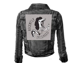 Recently Deceased Large Gray Back Patch