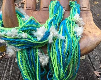 Handspun Art Yarn-Sea Spray- Signature WildPlied Artisan Yarn
