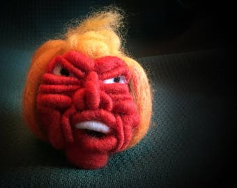 Donald Trump Voodoo Pumpkin Head, Trump Pincushion, Trump Pumpkin, Halloween Pumpkin, Scary Pumpkin