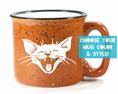 Laughing Cat Mug - Choose Your Cup Color