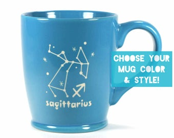 Sagittarius Zodiac Constellation Mug - Choose Your Cup Color