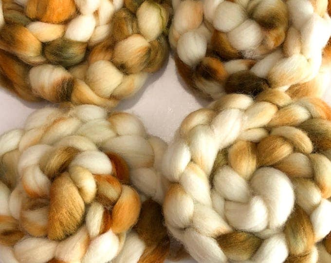 Hand dyed Cheviot wool top. Soft and easy to work with. Great for handspun yarn and to felt. 4oz. Ferris