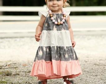 Girls  Princess Dress - Girls Dress - Girls Pink Princess Dress - Girls Birthday  Dress - Girls Party Dress - Girls Castle Dress - Fall