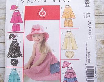 McCall's 5084 Girls playwear pattern Size 1-2-3-4
