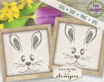 Easter SVG - Easter Bunny svg - Easter Rabbit SVG - Bunny Face svg - Rabbit Face svg - happy easter svg - Commercial Use svg, dxf, png, jpg