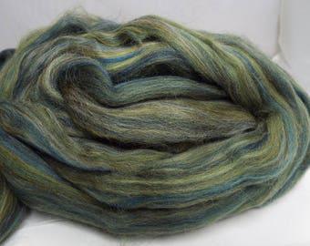 Polwarth, Green, 4 ounces, fiber, spinning fiber, spindle spinning, spinning, roving, top, Ashland Bay, Threadsthrutime