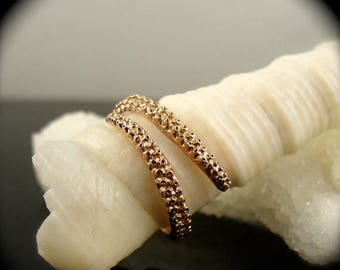 SALE SALE- OctopusME 14K Rose Gold Tentacle Stacking Ring