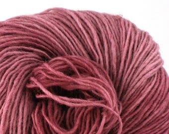 Valkill Hand Dyed DK weight NYS Wool 252yds/ 230m ~4oz/113g Deep Mallow