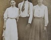 Vier alte Ansichtskarte Fotografien