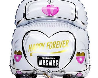 Just married balloon, happily ever after balloon wedding balloon just married car balloon wedding decor engagement party decor photo prop