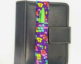 Neon Animal Print Theme Pretty Pen Pocket Planner Band Pen Holder