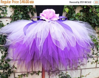 SUMMER SALE 20% OFF Purple Tutu, Purplicious, Custom Sewn 3 Tiered Pixie Tutu, 3 shades of lavender and purple, Girls Birthday Tutu, made-to