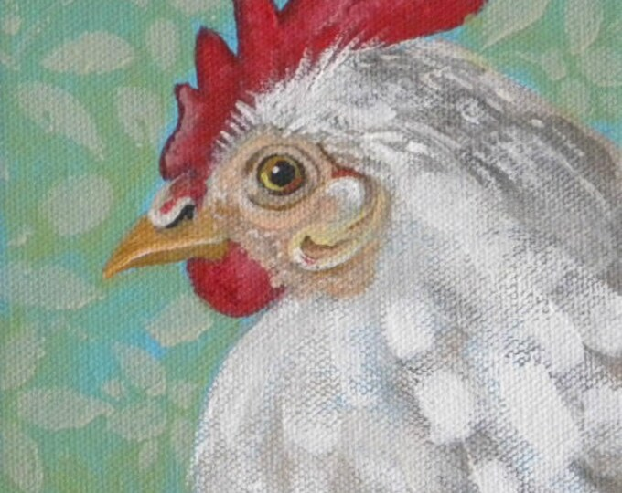 SALE sweet painting of beautiful hen