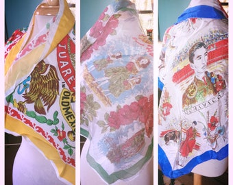 Vintage 1940s Scarf Lot souvenir novelty travel Old Hollywood Swing Rockabilly 40s 1950s 50s