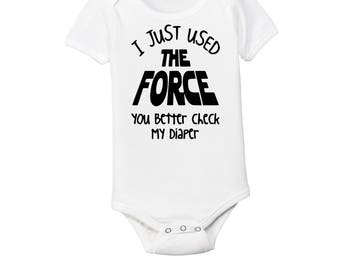 Star Wars Inspired Onesie - Funny Baby Shirts - Funny Baby Tees