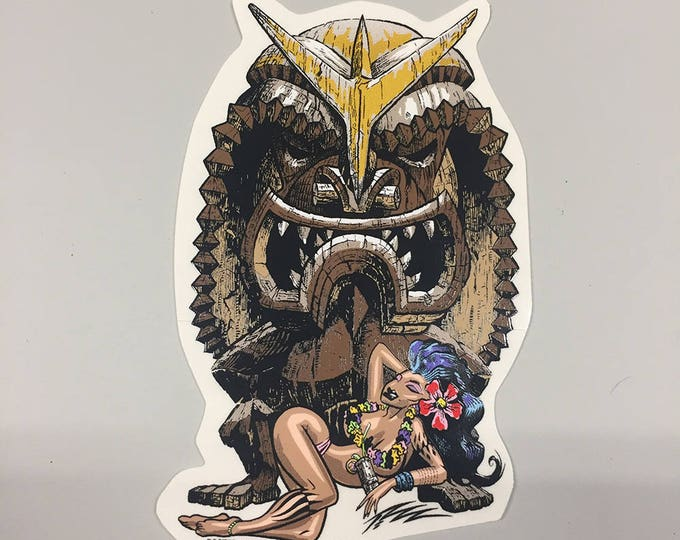 Car Decal - Tiki God by the Pizz