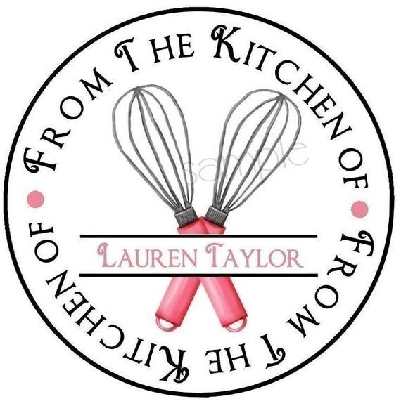 personalized baking stickers whisk stickers baking labels baking