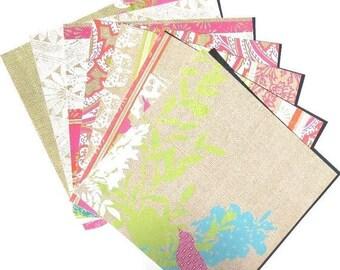 50% OFF - Summer Garden Pink - 6x6 DCWV Paper Pack - LAST Set