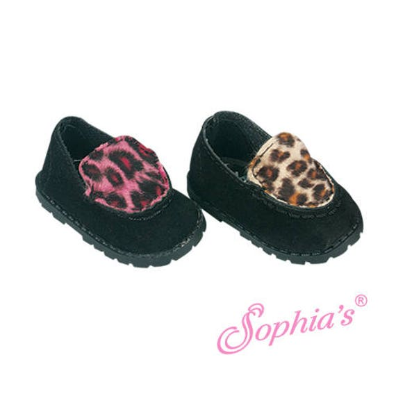 Animal Print Loafers - 18 Inch Doll Shoes