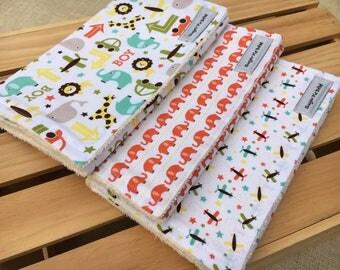 Baby Boy Gifts / Baby Burp Cloths / Baby Boy Burp Cloths