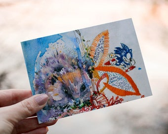 Hedgehog Print. Hedgehog Wall Art. Hedgehog Art. Hedgehog Picture. Cute Hedgehog. Sonic. Gardener Gift.