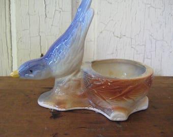 Vintage BLUEBIRD PLANTER