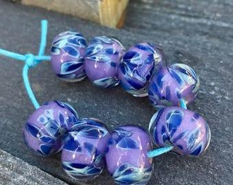 Borosilicate Glass Beads - Boro Beads - Lavender and Hazy Blue