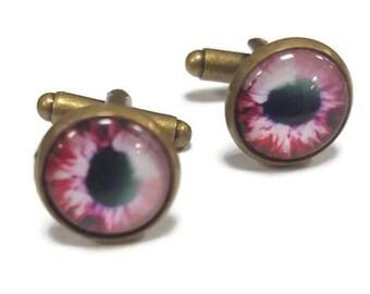 Burgundy Eye Cufflinks