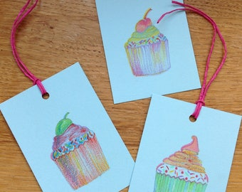 Cup cake gift tags