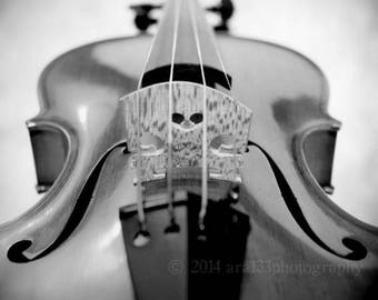 50% OFF SALE Violin Photography Music Print Large Wall Art Black and White Still Life Home Decor 20x20 inch Fine Art Photography Print